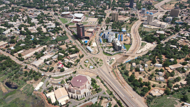 Vista general de la capital de Níger, Niamey, el 29 de julio de 2021