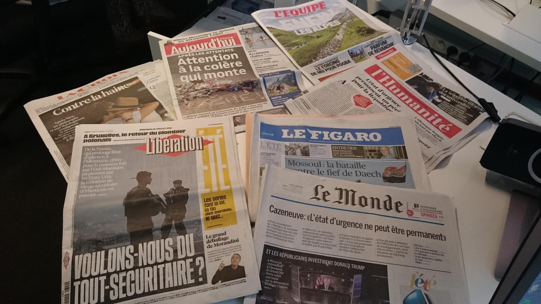 Diários franceses 20.07.2016