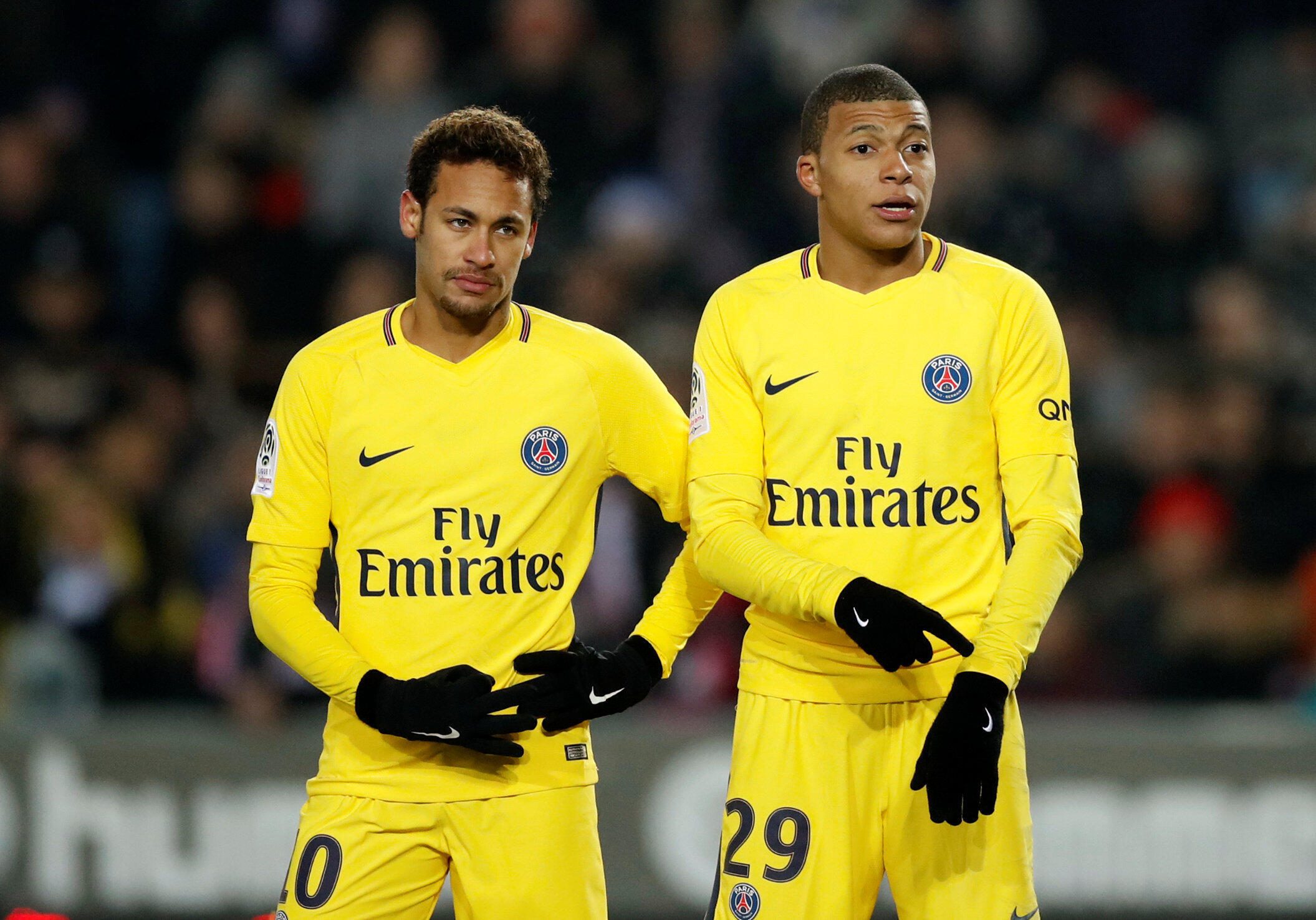 Neymar et Kylian Mbappe.