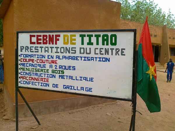Le Centre d'Education de Base Non Formelle de Titao.