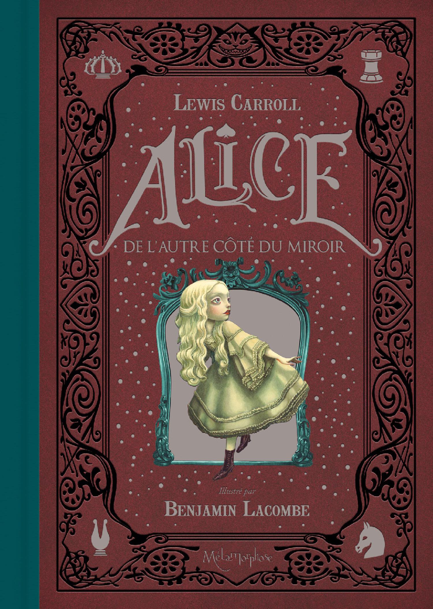 La couverture du livre illustré par Benjamin Laccombe «Alice, de l'autre côté du miroir».