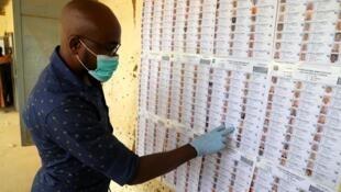 Un électeur malien, portant un masque, dans un bureau de vote de Gao, le 29 mars 2020. (image d'illustration) Souleymane Ag Ana