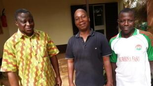 A gauche, Dramane Coulibaly, coordonnateur du pôle régional Niger du CESAO.