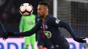 Dan wasan gaba na kungiyar PSG, Neymar.