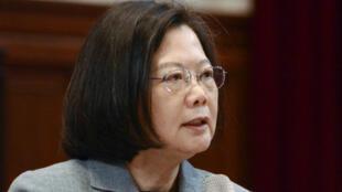 圖為台灣總統蔡英文於2019年1月5日