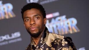 El actor Chadwick Boseman, en el estreno de Pantera Negra, el 29 de enero de 2018 en Hollywood