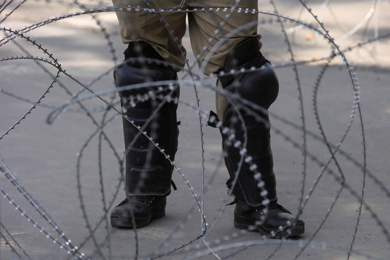 Hàng rào kẽm gai tại Eid-al-Adha, Srinagar, sau khi New Delhi hủy bỏ quy chế đặc biệt của vùng Cachemire thuộc Ấn Độ, ngày 12/08/2019.