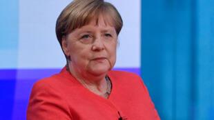 La chancelière allemande Angela Merkel, lors d'une interview à Berlin, le 4 juin 2020.