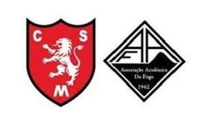 Emblemas dos clubes de futebol Mindelense e Académica do Fogo, com vénia jsn.com.cv