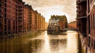 Hambourg, Allemagne, les anciens entrepôts.