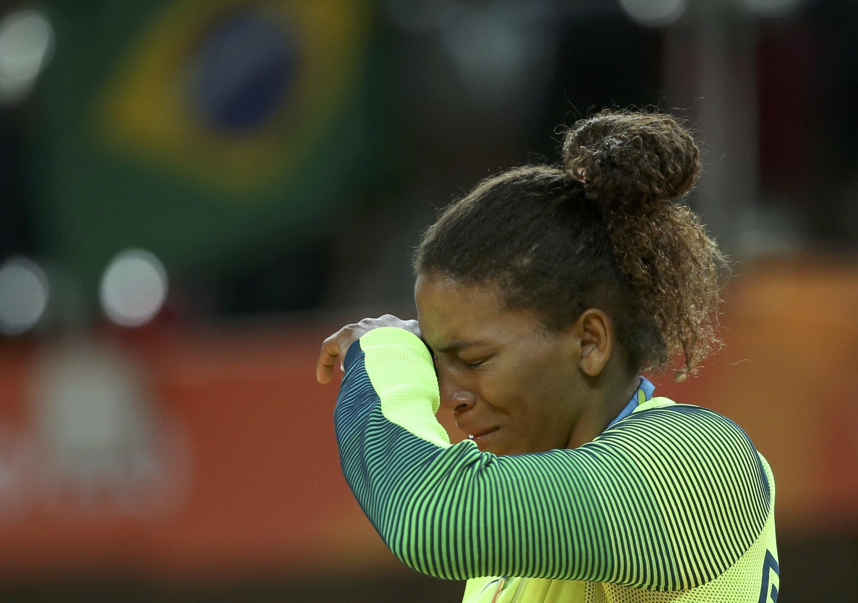 La brésilienne Rafaela Silva, championne olympique de judo en moins de 57 kilos à Rio.