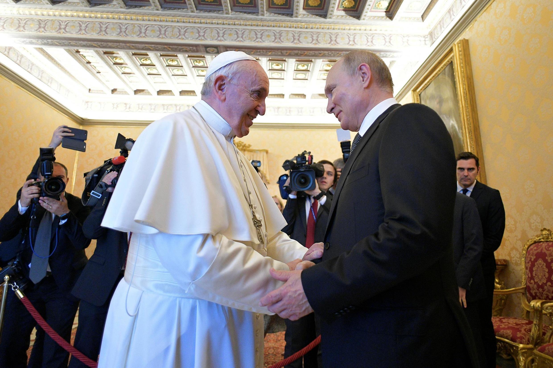 Папа Франциск и Владимир Путин в Ватикане 4 июля 2019.