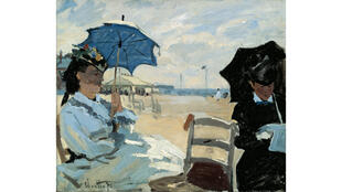 «La plage à Trouville» de Claude Monet.