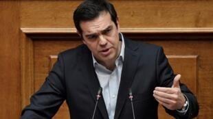 Le Premier ministre grec Alexis Tsipras (ici en janvier 2018) demande à Ankara d'arrêter «l'escalade rhétorique».