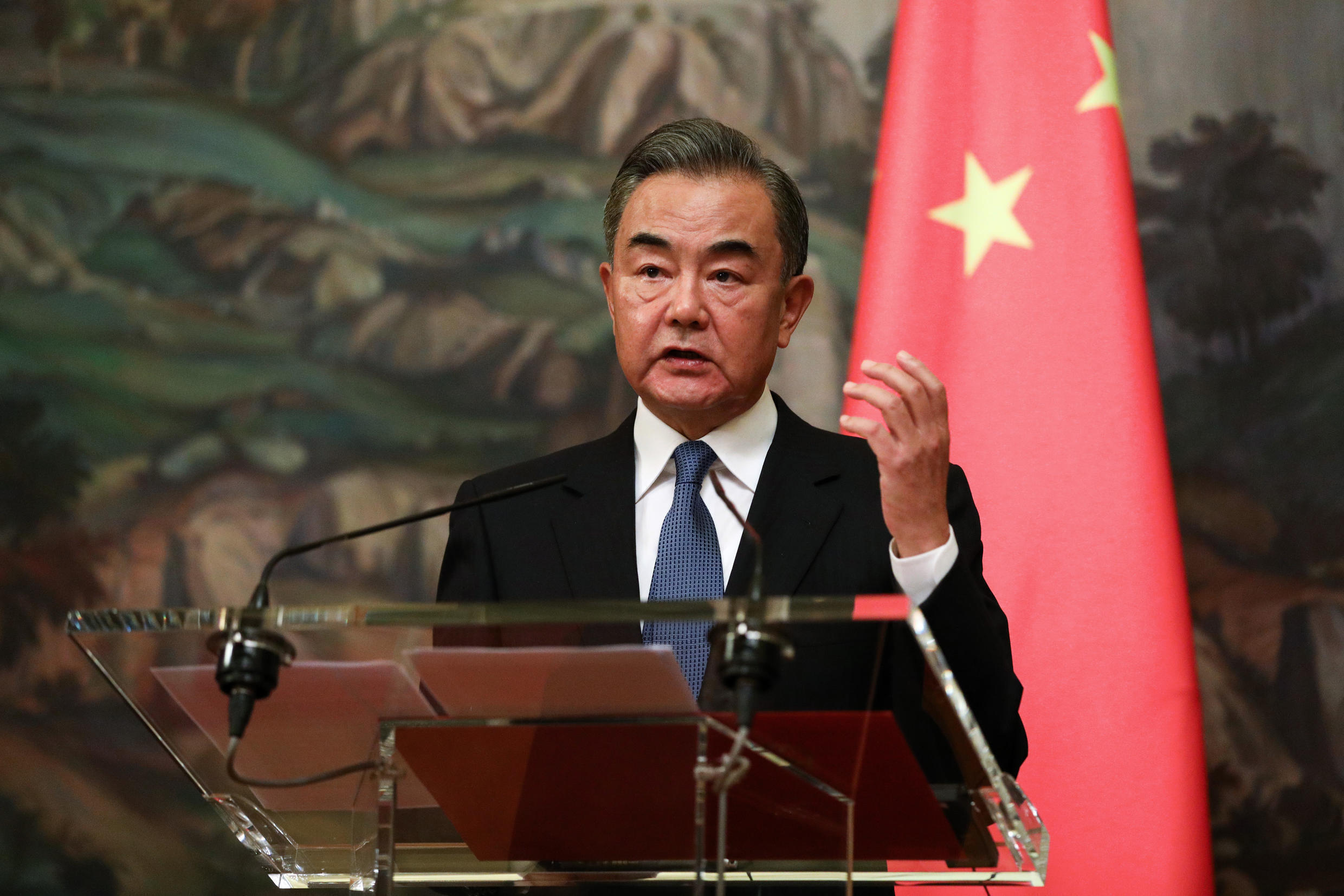 Image d'archive: Chinese Foreign Minister Wang Yi  存档图片:中国外长 王毅