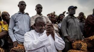 Adama Barrow, le nouveau président de Gambie, ici lors de la campagne pour l'élection présidentielle, fin novembre.