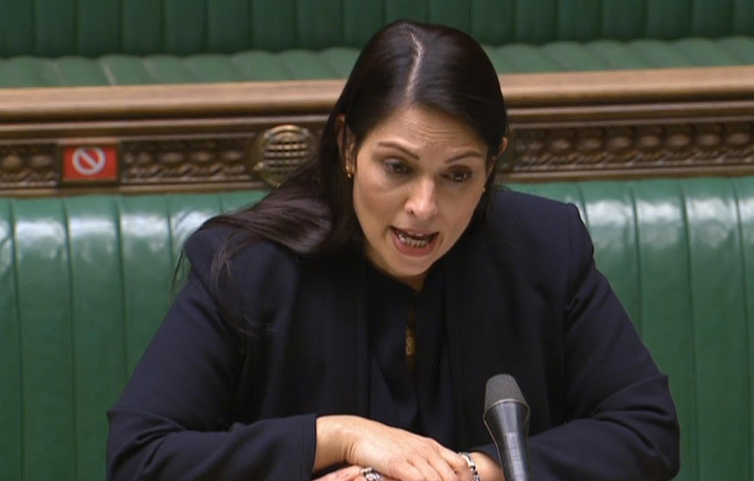Interior minister Priti Patel told lawmakers the report was 'deeply alarming'