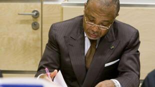 L'ex-président du Liberia Charles Taylor lors de son procès à La Haye, le 13 juillet 2009.