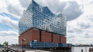 La philharmonie de l'Elbe à Hambourg, en Allemagne.