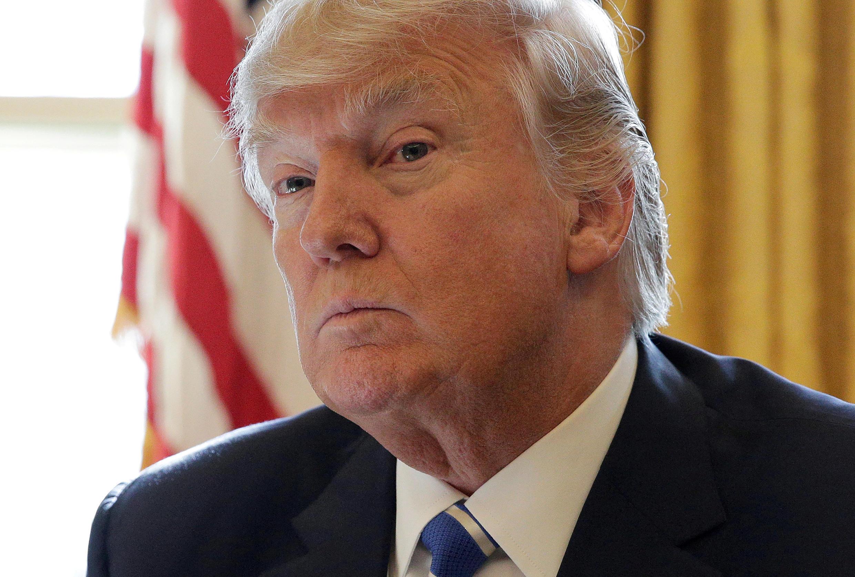 O presidente americano Donald Trump.
