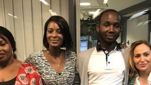 Valérie, Diara Ndiaye, Aboubacar et Natalia.