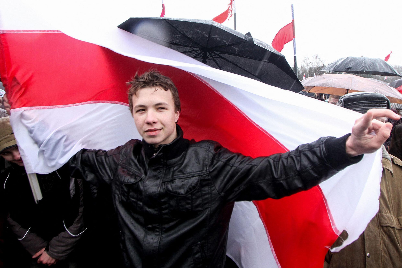 劫机事件中被捕的白俄罗斯记者普罗塔塞维奇资料图片