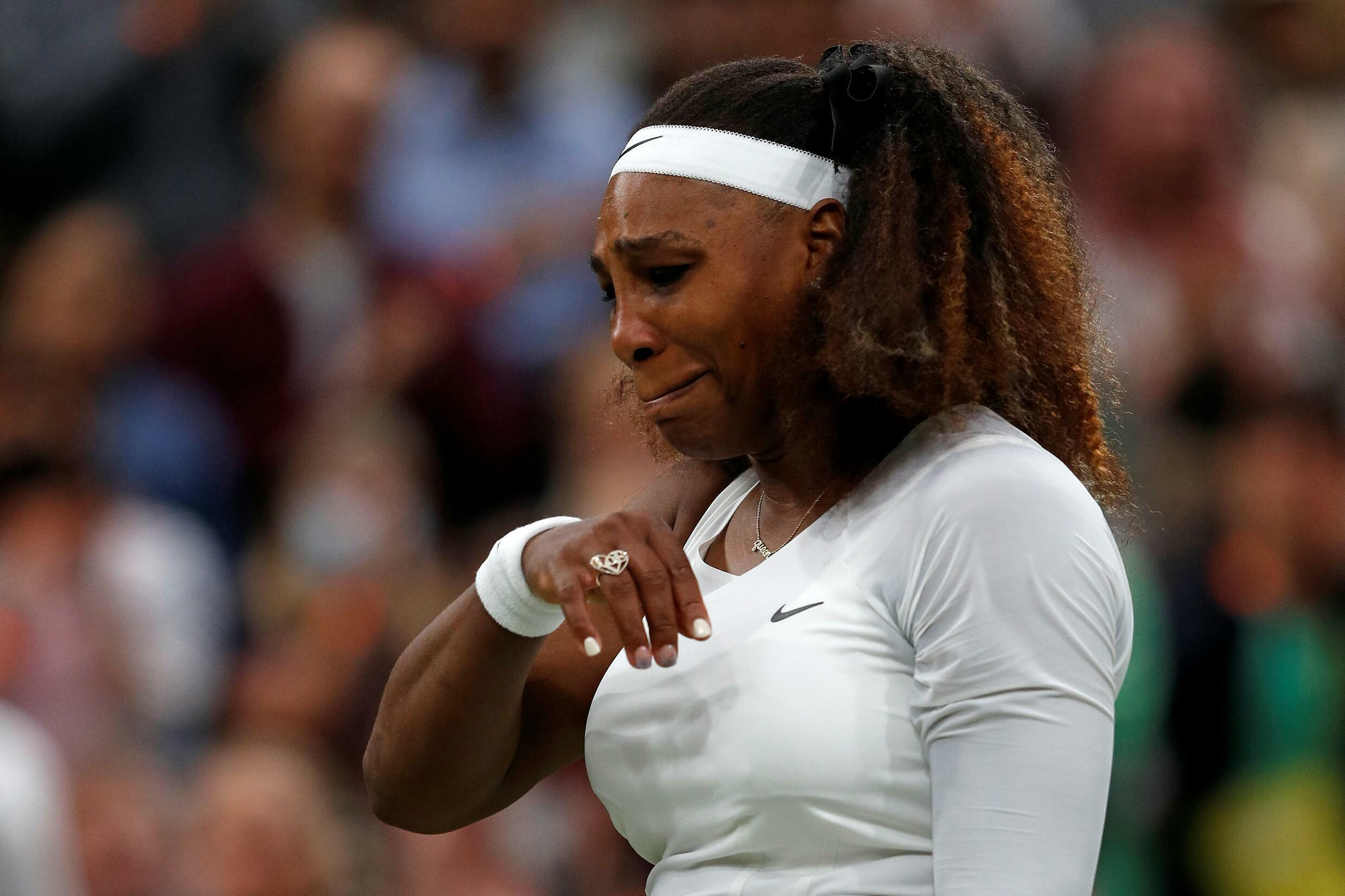 Seven-time champion Serena Williams retired from her first round match at Wimbledon due to injury.