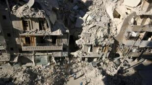 Yankin birnin Aleppo da ke karkashin ikon 'yan tawaye