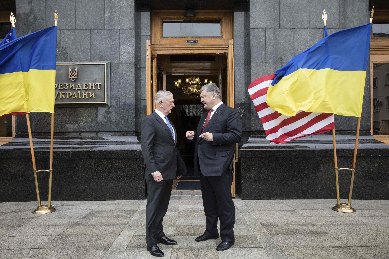 Президент Украины Петр Порошенко и министр обороны США Джеймс Мэттис