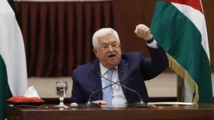 Mahmoud Abbas à Ramallah, le 19 mai 2020.