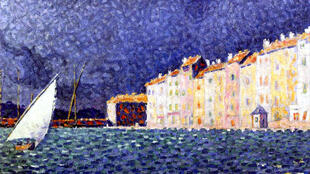 «L'orage», de Paul Signac, exposé au musée de l'Annonciade.
