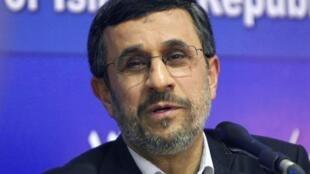 O presidente iraniano, Mahmoud Ahmadinejad.
