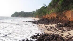 Plage de la région de Varela, en Guinée-Bissau.
