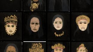 « Princesses », série de l'artiste Dalila Dalléas Bouzar, présentée par la Galerie Cécile Fakhoury à l'occasion de l'édition numérique d'Abu Dhabi Art 2020. © Galerie Cécile Fakhoury