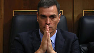 Prime minister Pedro Sanchez in parliament in Madrid during a vote on the budget on 13 February, 2019