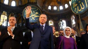 埃尔多安在伊斯坦布尔圣索菲亚大教堂出席活动    2018年4月1日