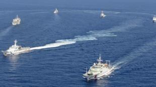 中日军舰对峙