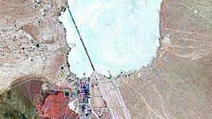 Image satellite de la «Zone 51», dans le Nevada aux Etats-Unis.