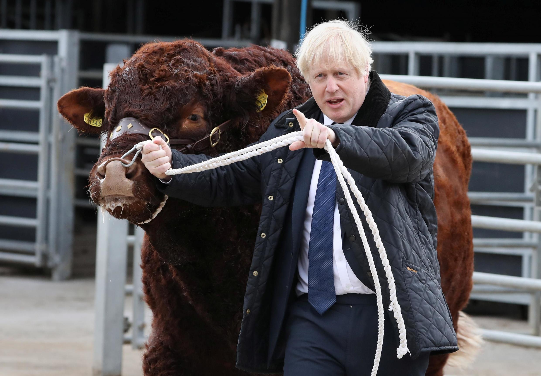 Thủ tướng Anh Boris Johnson viếng nông trại ở Darnford, Scotland, ngày 06/09/2019.