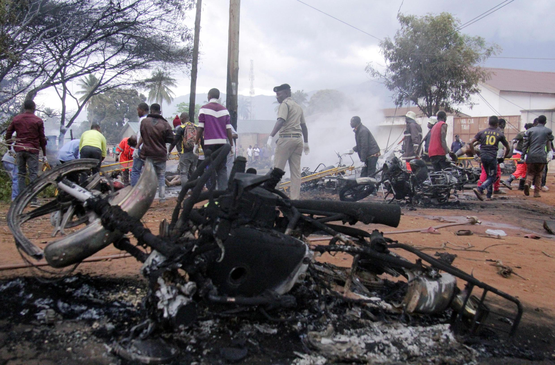 Mlipuko huo wa lori la mafuta Morogoro uliharibu mali nyingi Agosti 10, 2019.