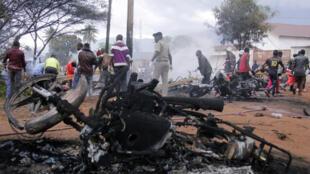 L'explosion a tout dévasté sur son passage... Morogoro, le 10 août 2019.