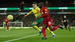 Sadio Mané est entré en jeu et a marqué le but de la victoire de Liverpool à Norwich City (1-0), le 15 février 2020 en Premier League.