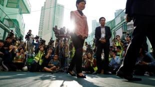图为香港行政长官林郑月娥2019年11月24日资料图片