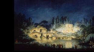 Illumination du Belvédère du Petit Trianon, 1781.