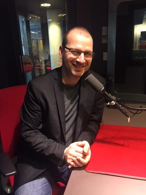 L'écrivain québécois Eric Plamandon en studio à RFI (janvier 2018)