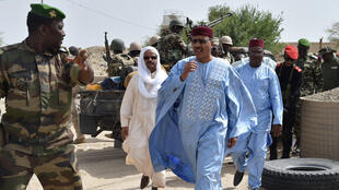 Le ministre nigérien de l'Intérieur Mohamed Bazoum à Bosso, le 17 juin 2016.