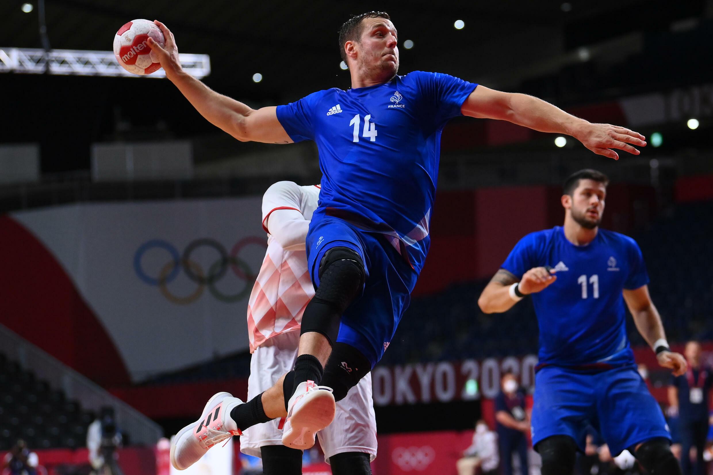 Kentin Mahé et l'équipe de France ont surclassé le Bahreïn en quart de finale du tournoi olympique de hand au Yoyogi Stadium de Tokyo, le 3 août 2021