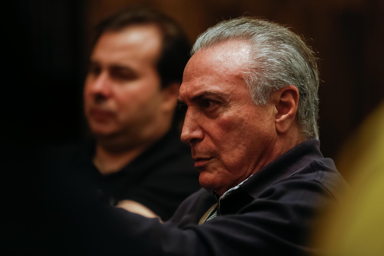Presidente Temer durante reunião com ministros e líderes da base aliada no Palácio da Alvorada-Brasília – DF, 21/05/2017