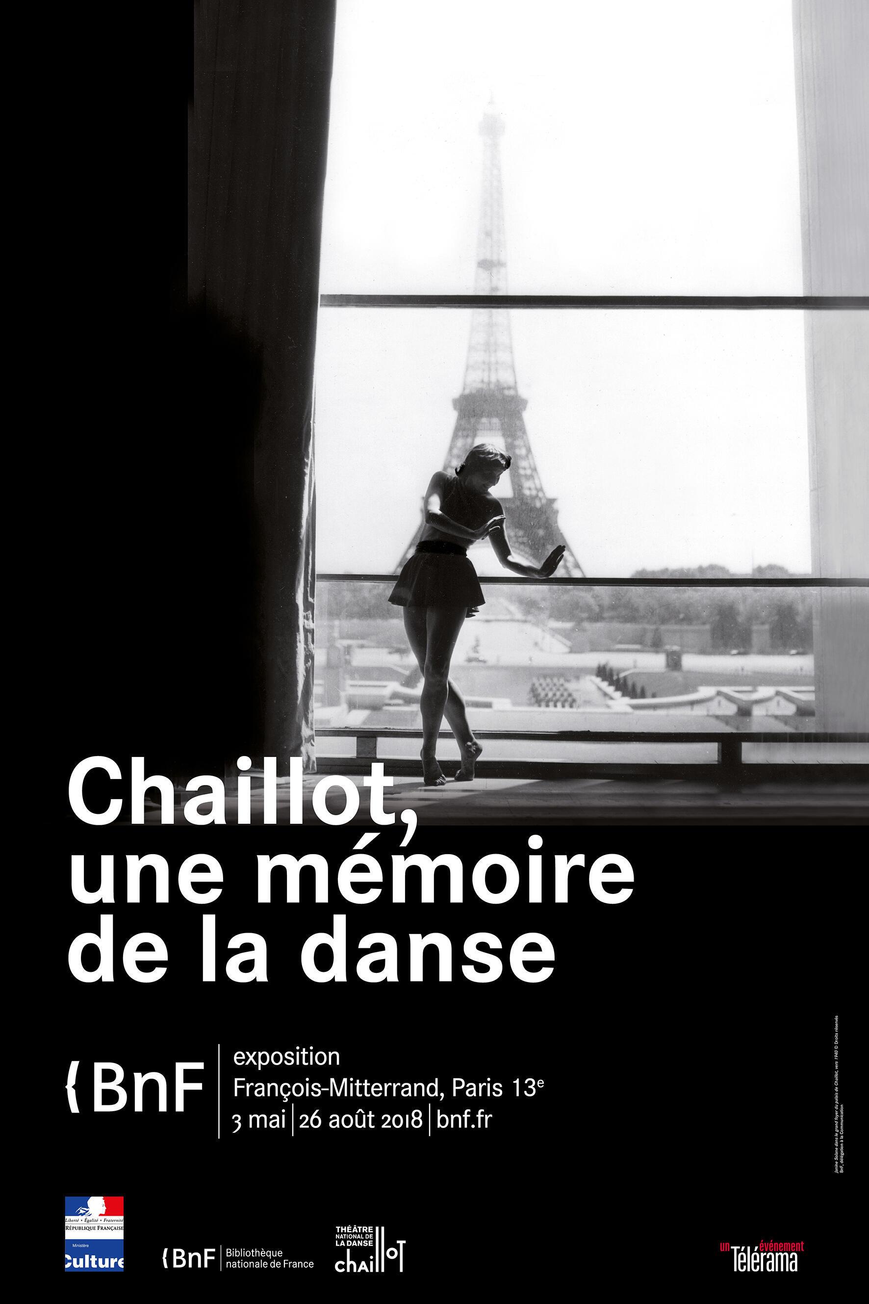 """Affiche officielle de l'exposition """"Chaillot une mémoire de la danse"""""""