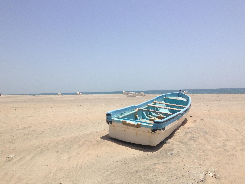 A broken boat in Lughaya, Somaliland